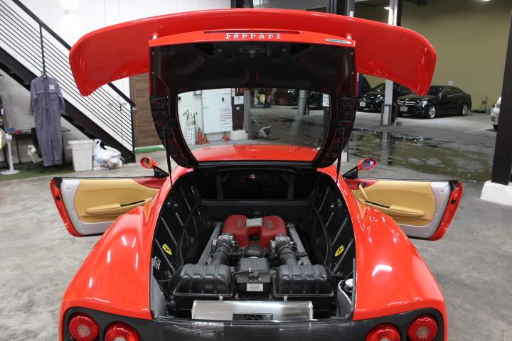 フェラーリ・360モデナ エンジン