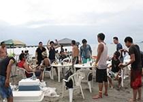 浜辺・BBQ